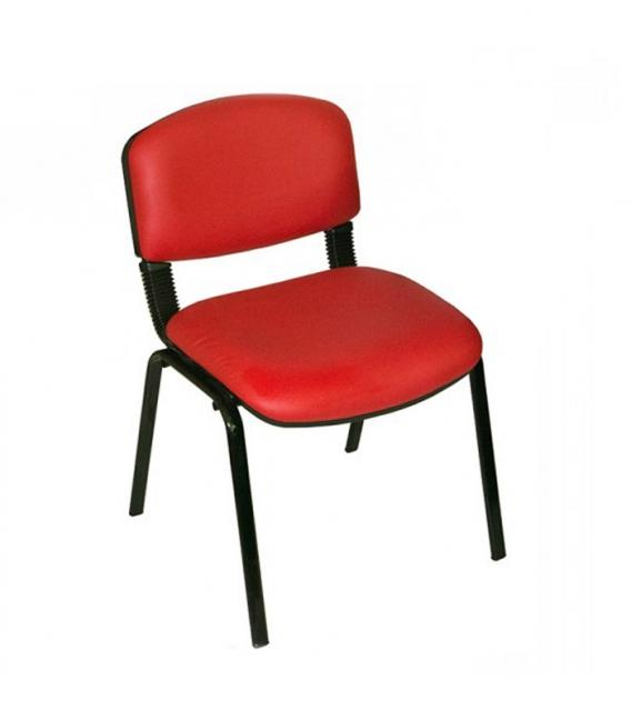 Üreten Burada Form Sandalye 2 Adet Set Kirmizi - Deri